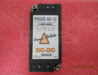 PH50S48-12 Simple function, 50 to 600W DC-DC converters