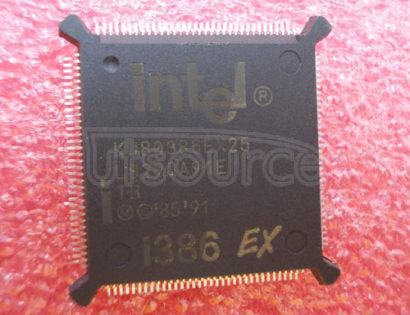 KU80386EX25 IC,MICROPROCESSOR,32-BIT,CMOS,QFP,132PIN,PLASTIC