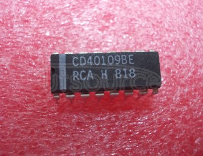 CD40109BE Quad Low To High Voltage Level Shifter