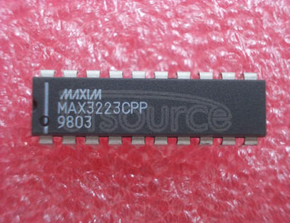 MAX3223CPP 1レA Supply Current, True +3V to +5.5V RS 232 Transceiver with AutoShutdown