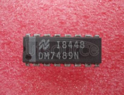DM7489N 64-BIT READ/WRITE MEMORIES