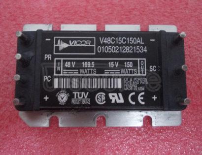 V48C15C150AL 48Vin  /  15Vout  /  150Watts   DC-DC   Converter   Module