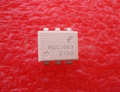 MOC3063 OPTICALLY COUPLED BILATERAL SWITCH LIGHT ACTIVATED ZERO VOLTAGE CROSSING TRIAC