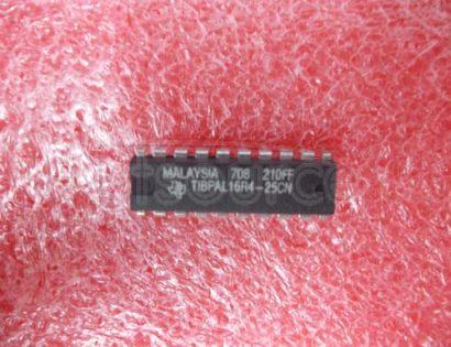 TIBPAL16R4-25CN LOW-POWER HIGH-PERFORMANCE IMPACT E PAL CIRCUITS