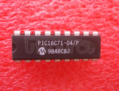 PIC16C71-04P 8-Bit CMOS Microcontrollers with A/D Converter