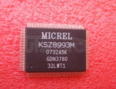 KSZ8993M Integrated 3-Port 10/100 Managed Integrated 3-Port 10/100 Managed