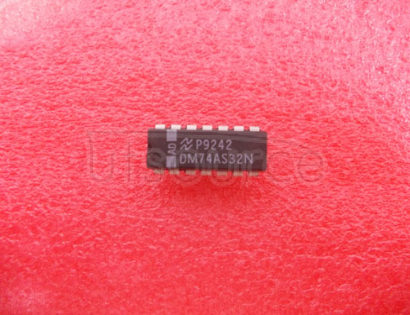 DM74AS32N Quad 2-Input OR Gate<br/> Package: DIP<br/> No of Pins: 14<br/> Container: Rail