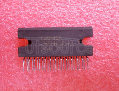 TB6560AHQ Stepping Motor Driver ICs<br/> Function: Driver<br/> Vopmax Vm*: 34V 40V<br/> Io lpeak: 3.0V 3.5A<br/> Excitation: 1/16 step<br/> I/F: CLK input<br/> Mixed Decay Mode: included<br/> Package: HZIP25<br/> RoHS Compatible: yes?