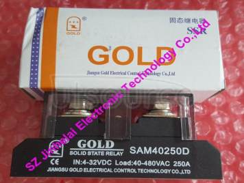 New and original SAM40250D GOLD Single-phase industrial solid state relay  SSR RELAY 4-32VDC, 48-530VAC  250A