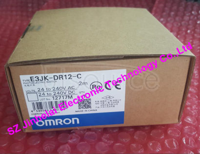 New and original E3JK-DR12-C  OMRON Photoelectric switch 2M  24-240VAC/24-240VDC Made in CHINA.