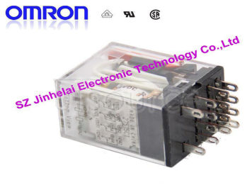 100%New and original MY4N-GS 24VDC OMRON  Intermediate relay 4NO 4NC 14pin  3A electricity