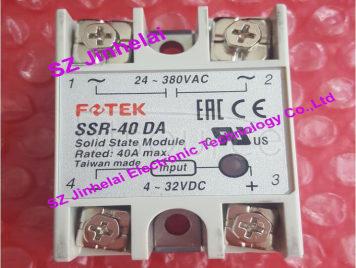 100% New and original  SSR-40DA  FOTEK  SOLID STATE MODULE, SSR SOLID STATE RELAY   40A