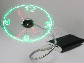 USB intelligent clock small fan LED mini fan creative students office computer fan is a small gift Really the clock display Can manually adjustable time memory function Don't need to drive