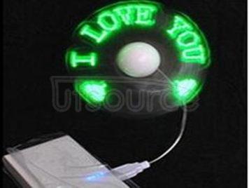 Led ShanZi type small fan Creative programming multiple text mini fan customizable LED ShanZi type fan (mixed color)