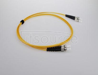 3m (10ft) ST UPC to ST UPC Duplex 2.0mm PVC(OFNR) 9/125 Single Mode Fiber Patch Cable
