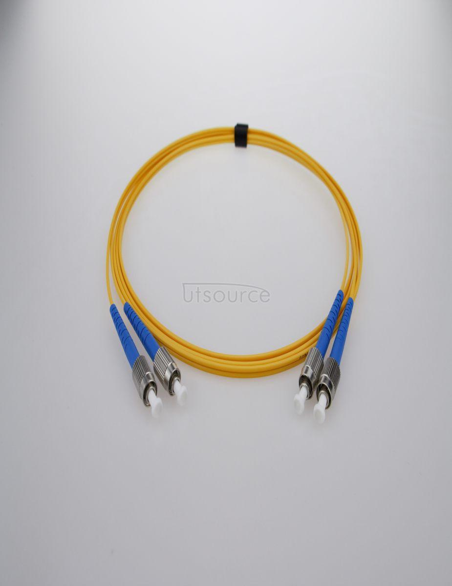 30m (98ft) FC APC to FC APC Duplex 2.0mm PVC(OFNR) 9/125 Single Mode Fiber Patch Cable