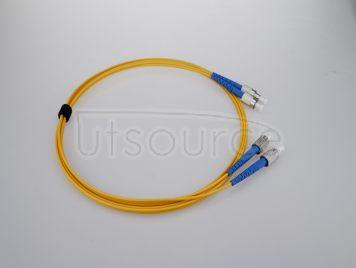 15m (49ft) FC UPC to FC UPC Simplex 2.0mm PVC(OFNR) 9/125 Single Mode Fiber Patch Cable
