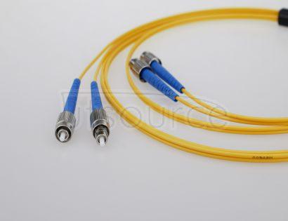 15m (49ft) FC APC to FC APC Duplex 2.0mm PVC(OFNR) 9/125 Single Mode Fiber Patch Cable