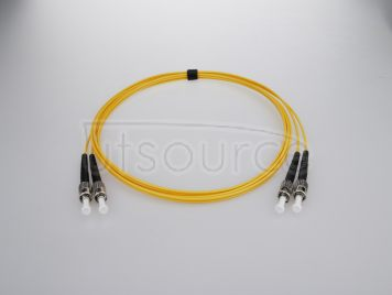 15m (49ft) ST UPC to ST UPC Duplex 2.0mm PVC(OFNR) 9/125 Single Mode Fiber Patch Cable