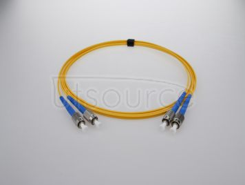 15m (49ft) FC APC to FC APC Simplex 2.0mm PVC(OFNR) 9/125 Single Mode Fiber Patch Cable