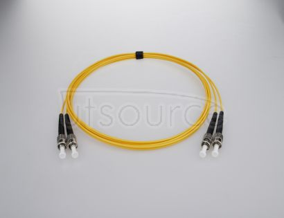 1m (3ft) ST APC to ST APC Duplex 2.0mm PVC(OFNR) 9/125 Single Mode Fiber Patch Cable Compliant with IEEE 802.3z standards for Fast Ethernet and Gigabit Ethernet applications