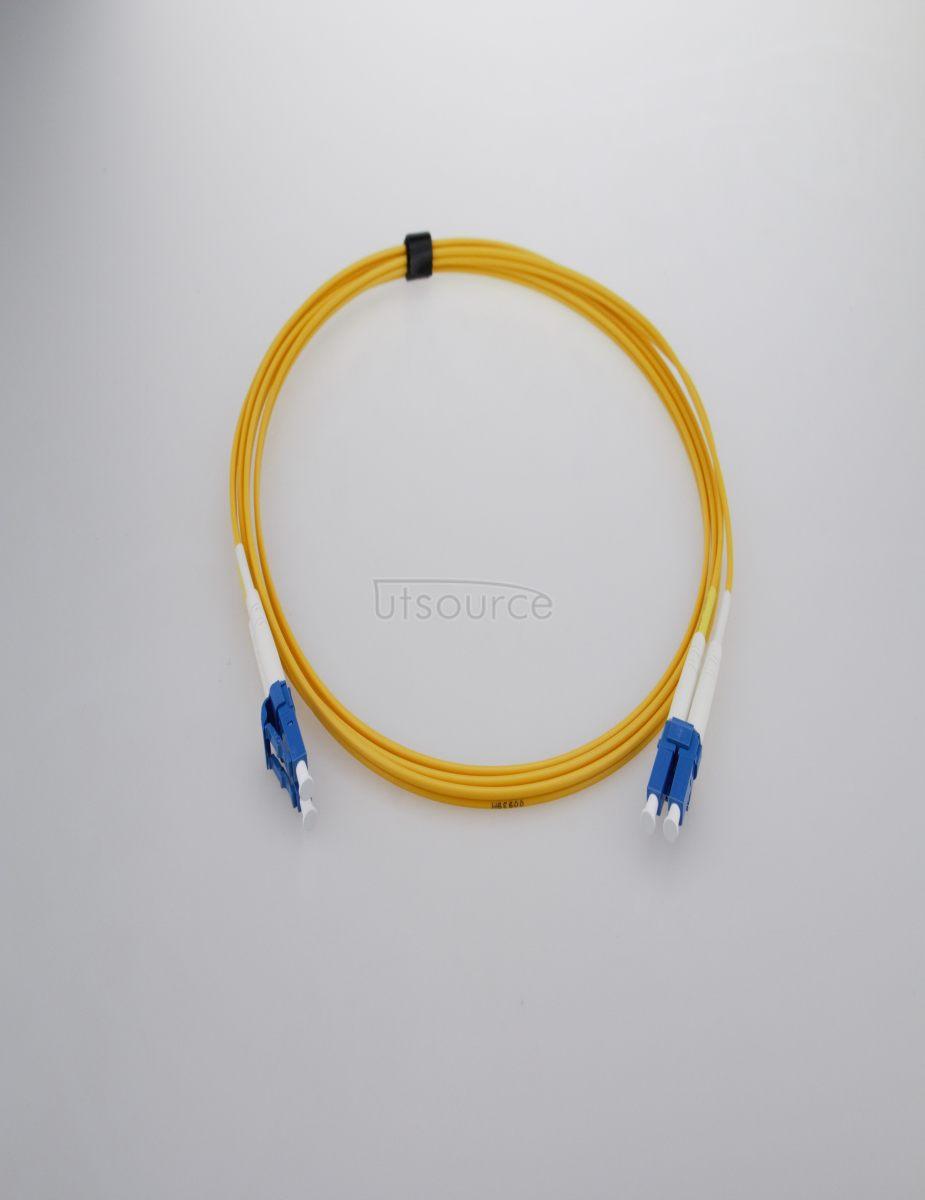 2m (7ft) LC APC to LC APC Simplex 2.0mm PVC(OFNR) 9/125 Single Mode Fiber Patch Cable
