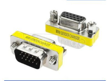VGA line conversion head male, the female 15 needle free welding VGA display video cable connector