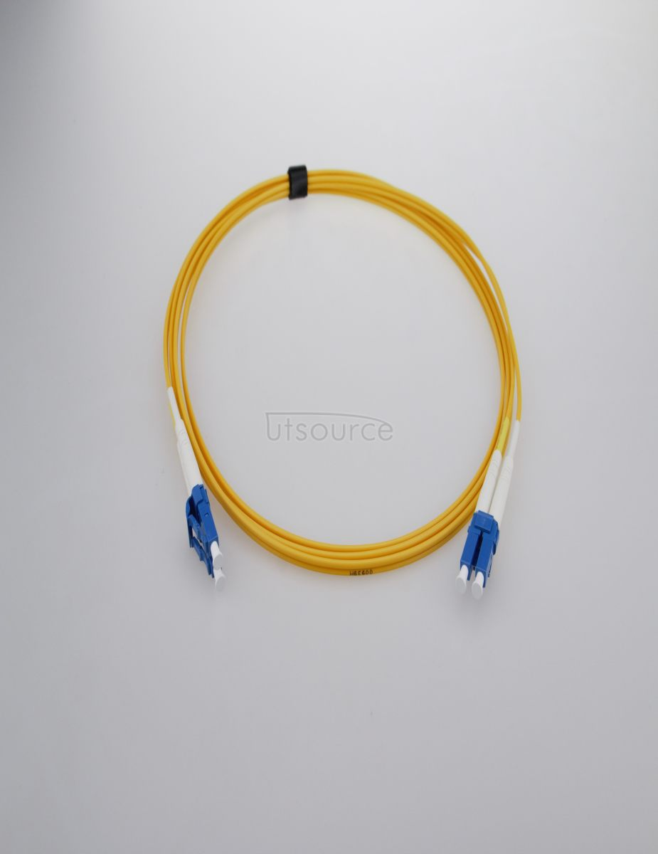 7m (23ft) LC UPC to LC UPC Simplex 2.0mm PVC(OFNR) 9/125 Single Mode Fiber Patch Cable