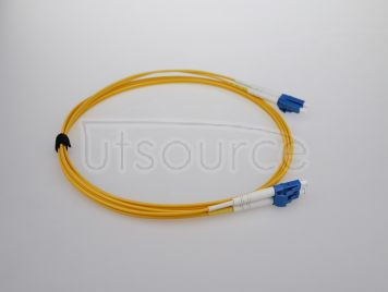 2m (7ft) LC UPC to LC UPC Duplex 2.0mm PVC(OFNR) 9/125 Single Mode Fiber Patch Cable