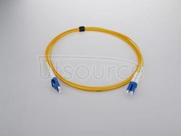 1m (3ft) LC APC to LC APC Simplex 2.0mm PVC(OFNR) 9/125 Single Mode Fiber Patch Cable