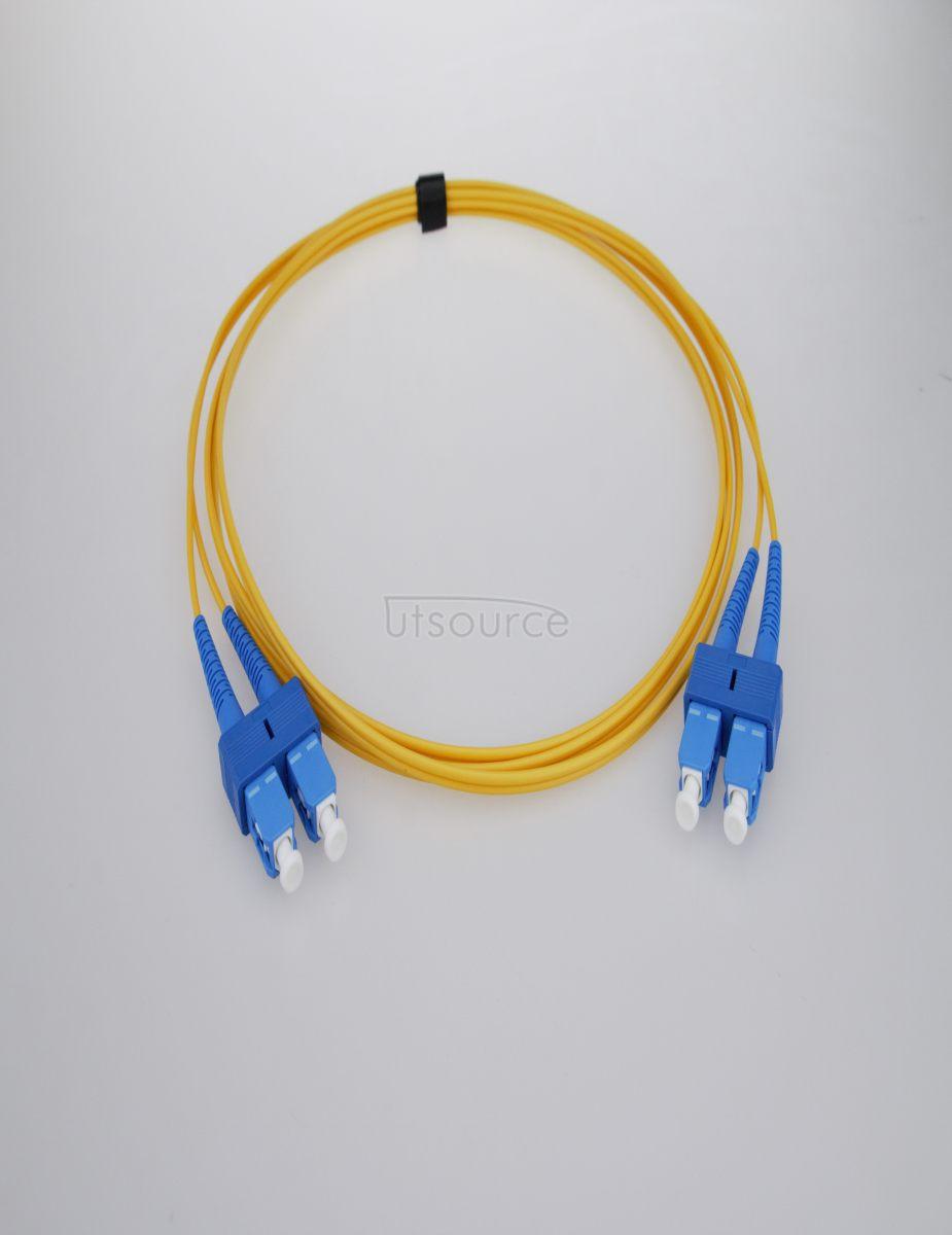 4m (13ft) SC UPC to SC UPC Duplex 2.0mm PVC(OFNR) 9/125 Single Mode Fiber Patch Cable