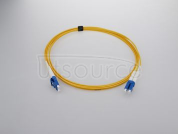 2m (7ft) LC APC to LC APC Simplex 2.0mm PVC(OFNR) 9/125 Single Mode Fiber Patch Cable