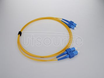 2m (7ft) SC APC to SC APC Duplex 2.0mm PVC(OFNR) 9/125 Single Mode Fiber Patch Cable