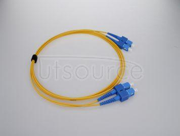 2m (7ft) SC APC to SC APC Duplex 2.0mm PVC(OFNR) 9/125 Single Mode Fiber Patch Cable