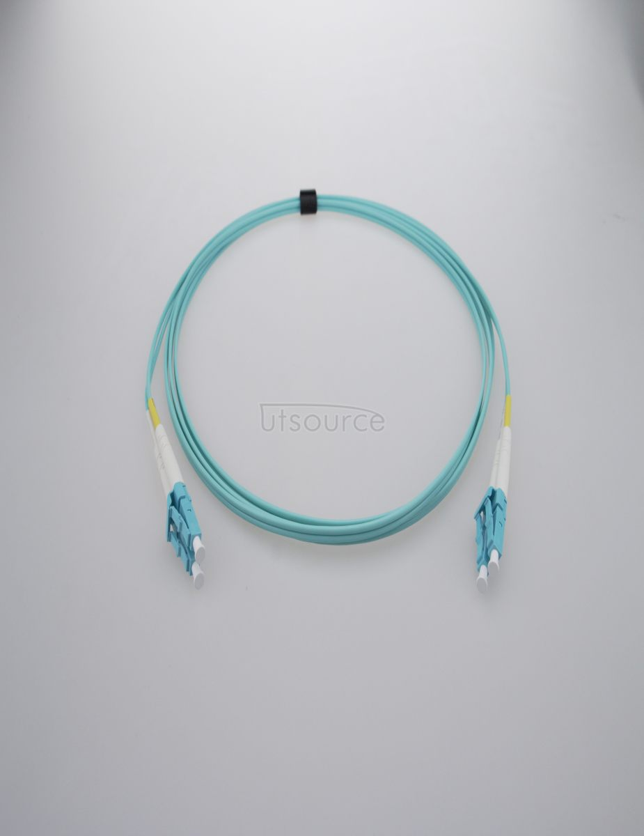 2m (7ft) LC UPC to LC UPC Duplex 2.0mm PVC(OFNR) OM4 Multimode Fiber Optic Patch Cable