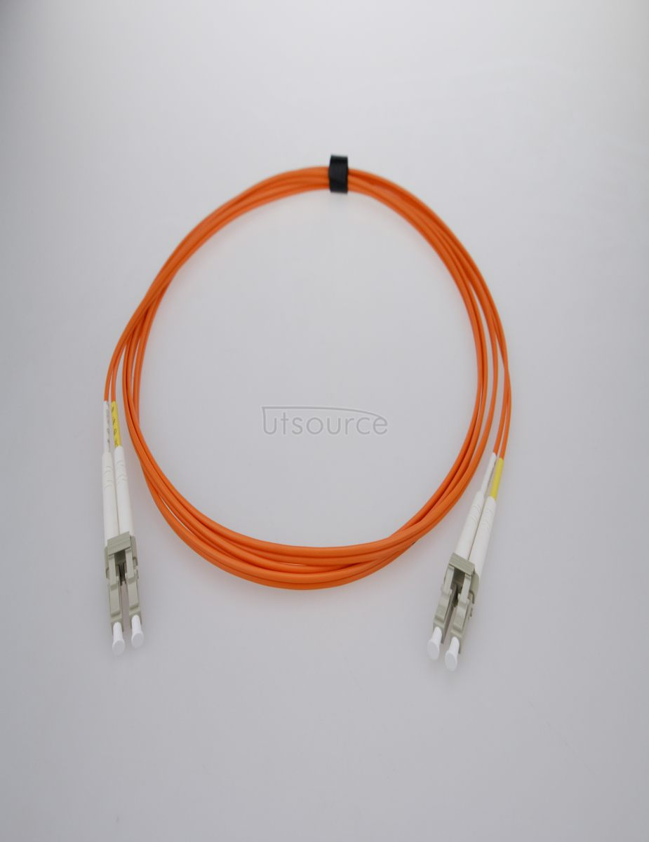 1m (3ft) LC UPC to LC UPC Duplex 2.0mm PVC(OFNR) OM2 Multimode Fiber Optic Patch Cable