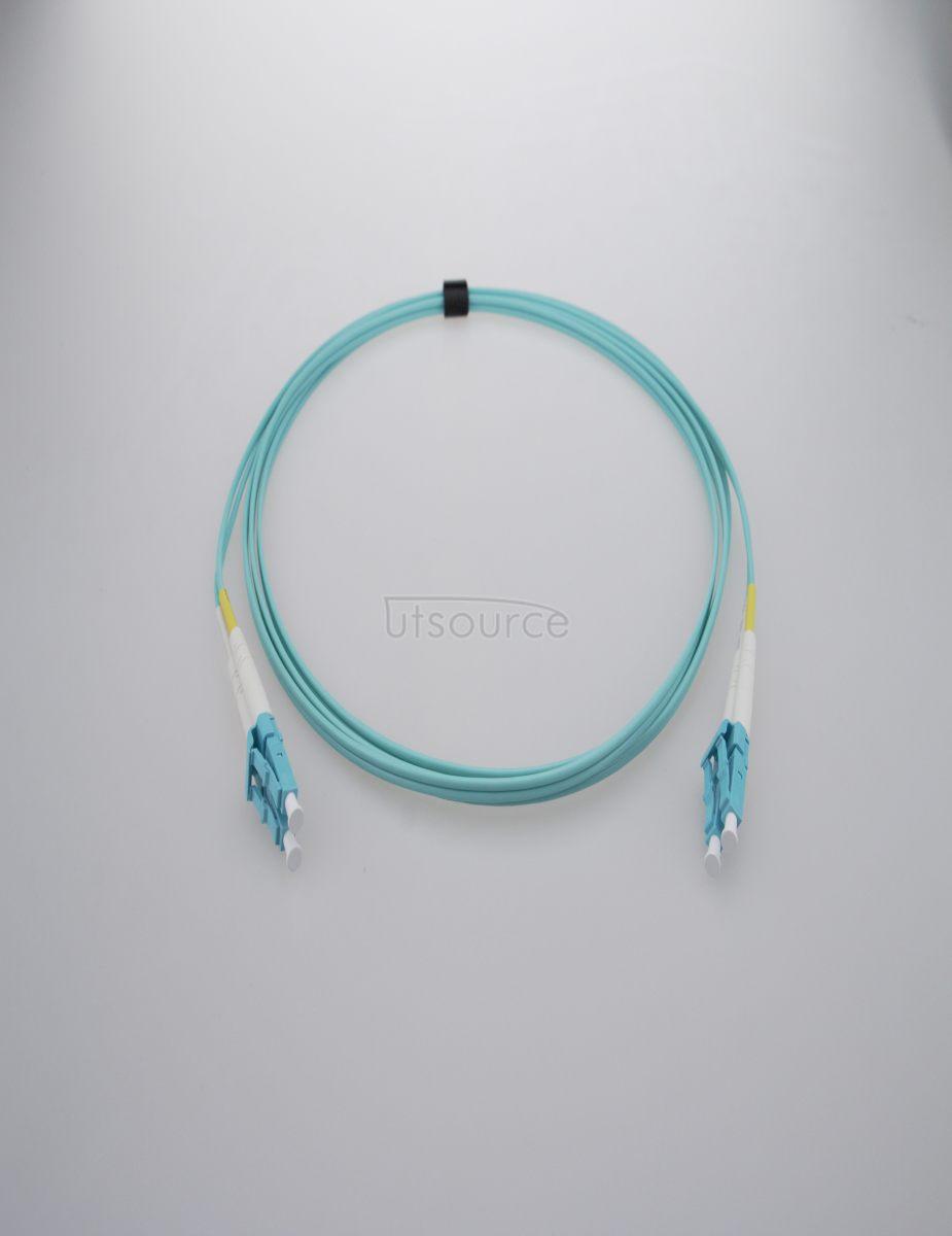 2m (7ft) LC UPC to LC UPC Duplex 2.0mm PVC(OFNR) OM3 Multimode Fiber Optic Patch Cable