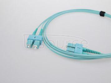 5m (16ft) SC UPC to SC UPC Duplex 2.0mm PVC(OFNR) OM4 Multimode Fiber Optic Patch Cable