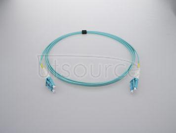 30m (98ft) LC UPC to LC UPC Duplex 2.0mm PVC(OFNR) OM3 Multimode Fiber Optic Patch Cable