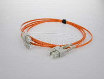 5m (16ft) SC UPC to SC UPC Duplex 2.0mm PVC(OFNR) OM2 Multimode Fiber Optic Patch Cable