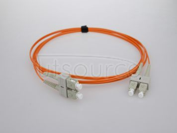 1m (3ft) SC UPC to SC UPC Duplex 2.0mm PVC(OFNR) OM2 Multimode Fiber Optic Patch Cable