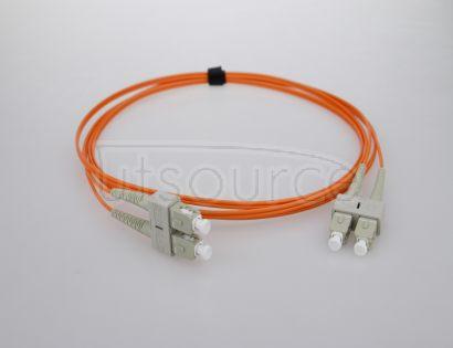 1m (3ft) SC UPC to SC UPC Duplex 2.0mm PVC(OFNR) OM2 Multimode Fiber Optic Patch Cable 50/125um fiber designed for longer transmission with low loss for Fast Ethernet, Gigabit Ethernet and Fiber Channel application