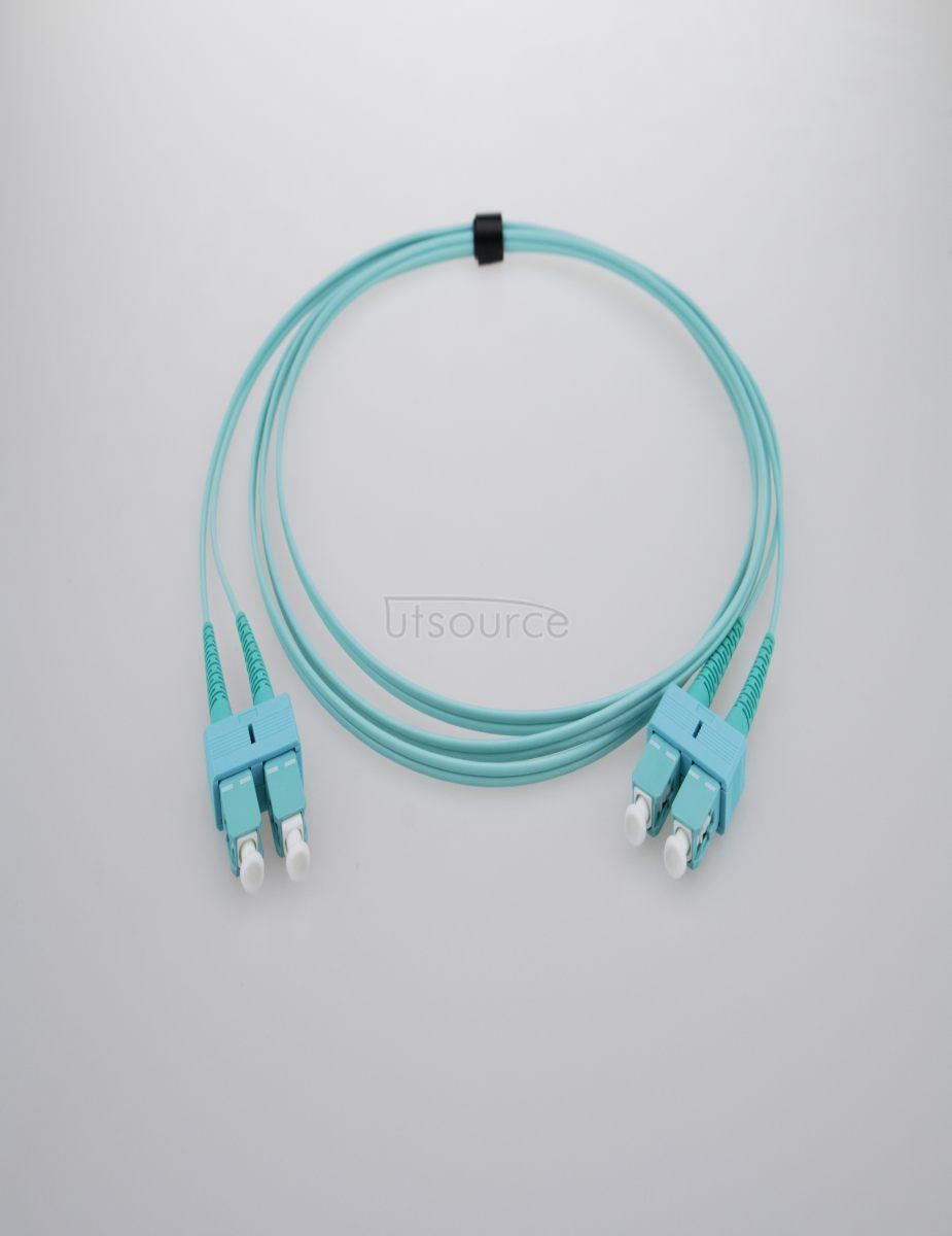 10m (33ft) SC UPC to SC UPC Duplex 2.0mm PVC(OFNR) OM4 Multimode Fiber Optic Patch Cable