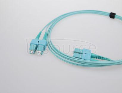 30m (98ft) SC UPC to SC UPC Duplex 2.0mm PVC(OFNR) OM3 Multimode Fiber Optic Patch Cable
