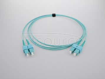 10m (33ft) SC UPC to SC UPC Duplex 2.0mm PVC(OFNR) OM4 Multimode Fiber Optic Patch Cable