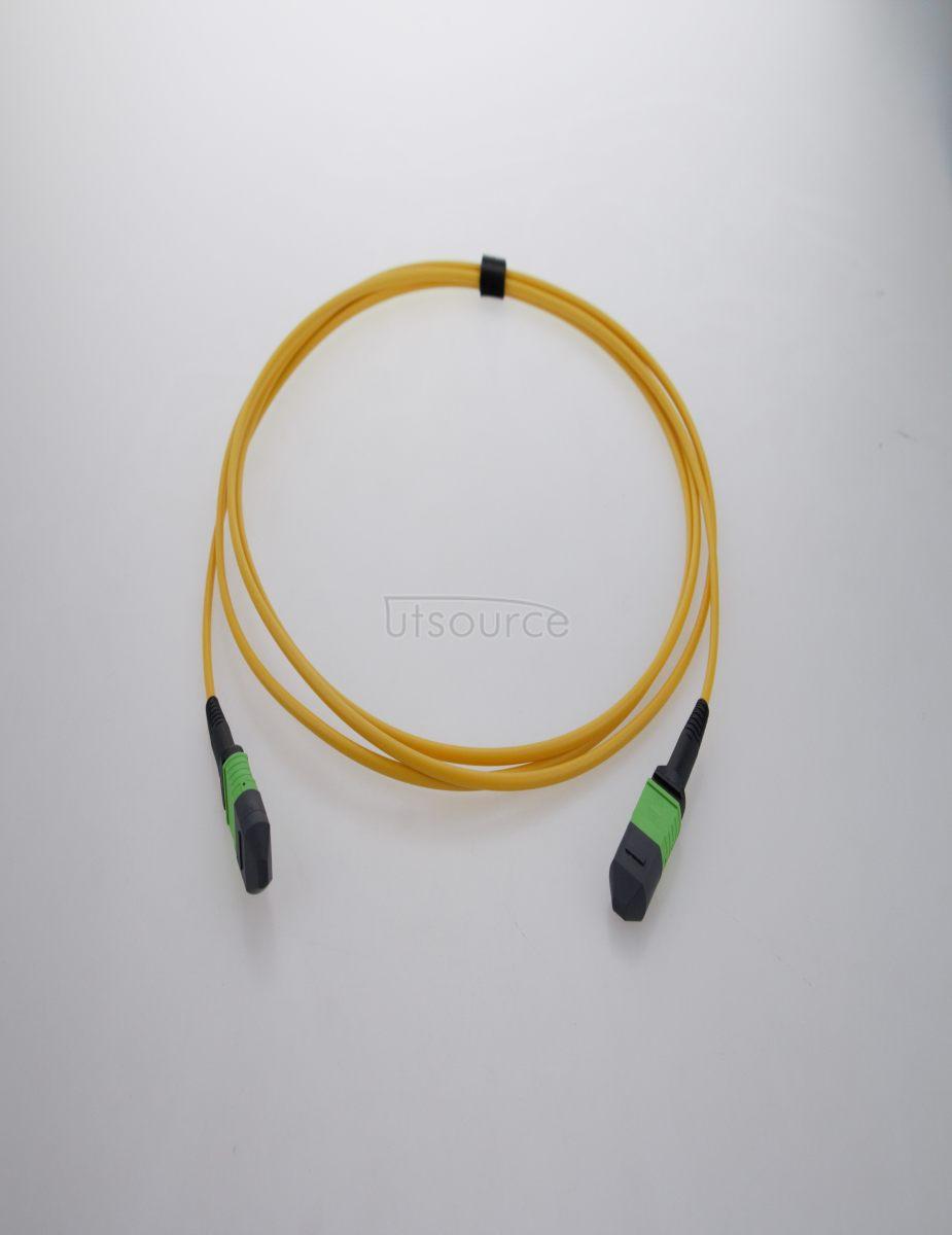 1m (3ft) MTP Female to Female 12 Fibers OS2 9/125 Single Mode Trunk Cable, Type B, Elite, Plenum (OFNP), Yellow
