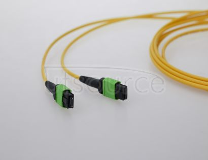 2m (7ft) MTP Female to MTP Female 12 Fibers OS2 9/125 Single Mode HD Trunk Cable, Type A, LSZH, Yellow