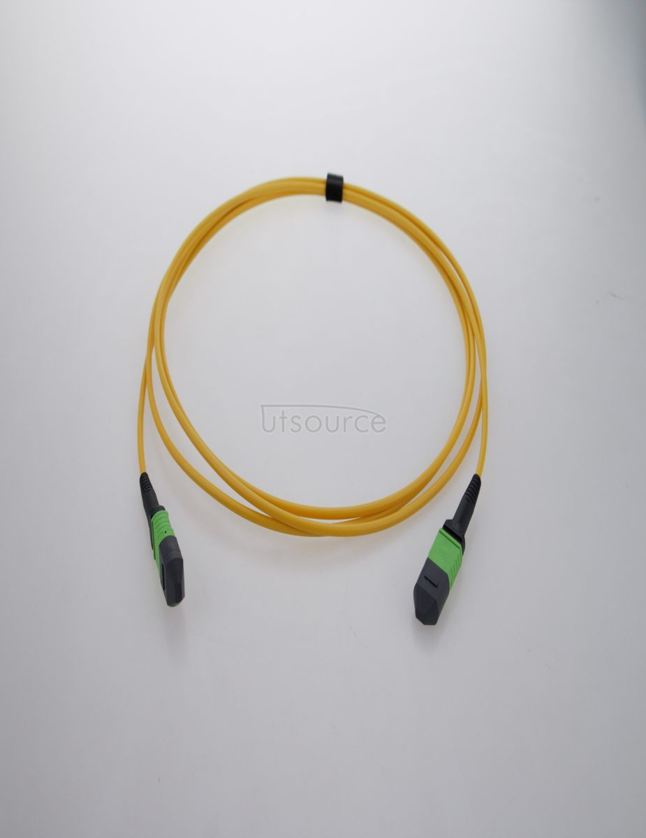 5m (16ft) MTP Female to MTP Female 12 Fibers OS2 9/125 Single Mode HD Trunk Cable, Type B, LSZH, Yellow