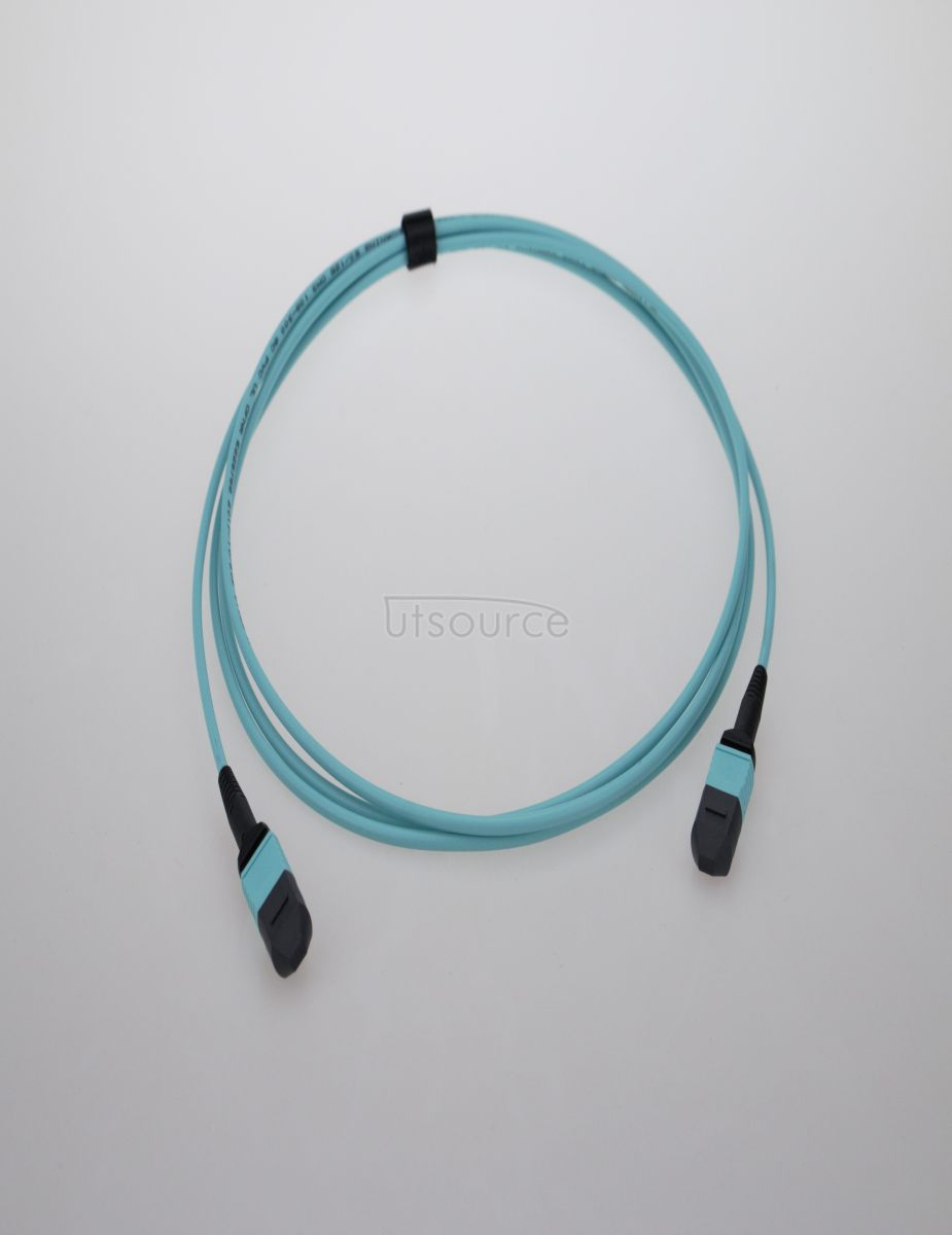 3m (10ft) MTP Female to Female 12 Fibers OM3 50/125 Multimode Trunk Cable, Type A, Elite, Plenum (OFNP), Aqua