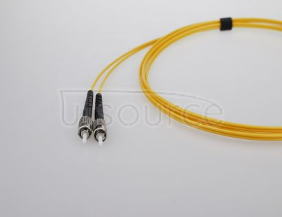 15m (49ft) LC UPC to ST UPC Simplex 2.0mm PVC(OFNR) 9/125 Single Mode Fiber Patch Cable